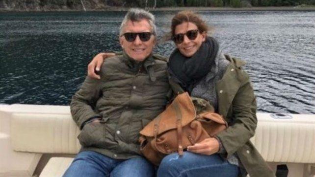 Pareja. Macri y Awada vacacionaron en Villa Traful.