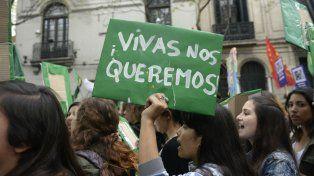 La última marcha en contra de la violencia de género.
