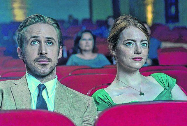 La la land. Este musical con Ryan Gosling y Emma Stone parte como favorito con siete nominaciones.