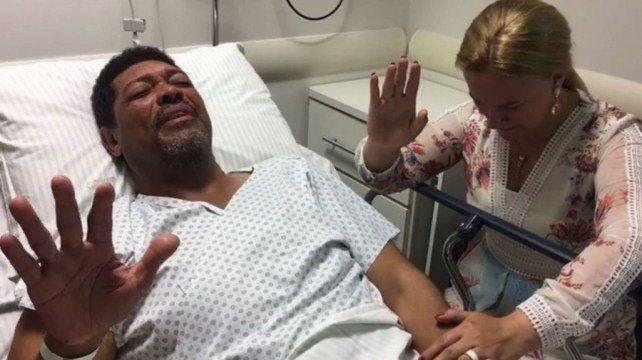 La imagen del pastor evangélico que sobrevivió a un ataque en San Pablo.