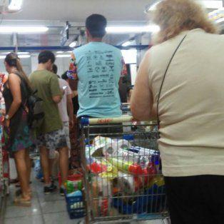 los rosarinos aprovecharon la disputa judicial para hacer compras en los supermercados