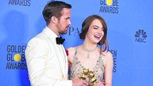 sueños en los angeles. Ryan Gosling y Emma Stone componen a un pianista y a una aspirante a actriz.