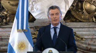 Macri habló en la Casa Rosada.