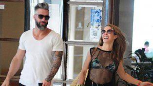 Miriam Lanzoni se paseó orgullosa con su nuevo novio en las playas de Punta del Este.