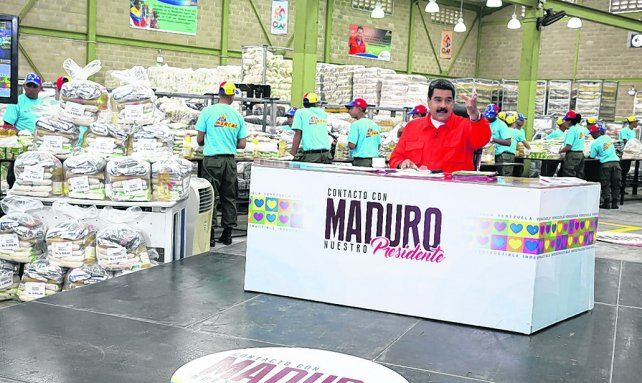 Dureza. El mandatario bolivariano durante una alocución por radio y televisión a los venezolanos.
