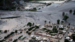 Así quedó la localidad jujeña de Volcán tras el alud de hoy