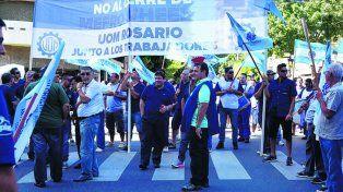 Lucha.Los trabajadores de Mefro Wheels se movilizaron el viernes pasado.