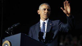 adiós. Obama hizo anoche su último discurso. La reivindicación se mezcló con la emoción a cada frase.