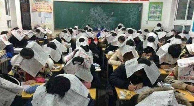 Sombreros de papel de diario