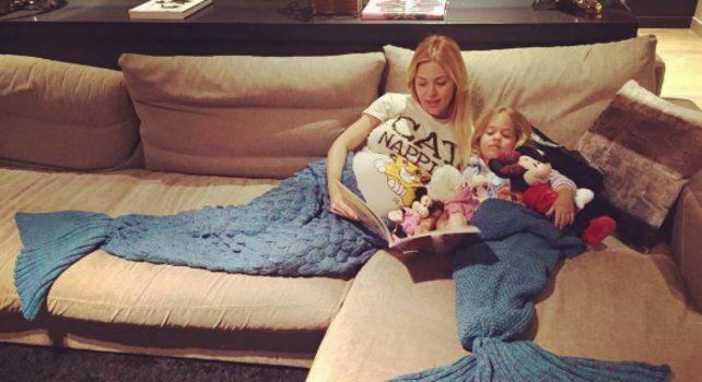 Evangelina Anderson con la pequeña Lola.