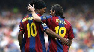 Ronaldinho contó cómo conoció a Messi y cuál fue el primer consejo que le dio
