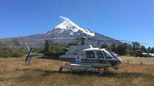 volcán lanín. Las víctimas fueron socorridas por tierra. El helicóptero de rescate no pudo operar por el viento.