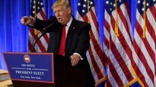 Combativo. Trump compareció ante los medios de prensa