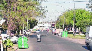 noroeste. Las calles de Casiano Casas alteraron su habitual tranquilidad.