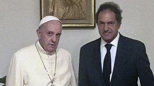 El Papa Francisco recibió al ex gobernador de Buenos Aires Daniel Scioli