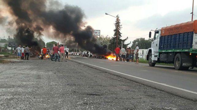 Los vecinos de Chabás levantaron el corte tras el encuentro con funcionarios de la provincia