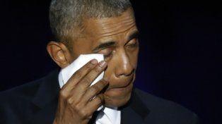 Con estilo. Obama se despide emocionado de sus seguidores en Chicago
