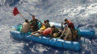 Exodo en masa. Los migrantes cubanos que lograban llegar a tierra podían permanecer en EEUU.