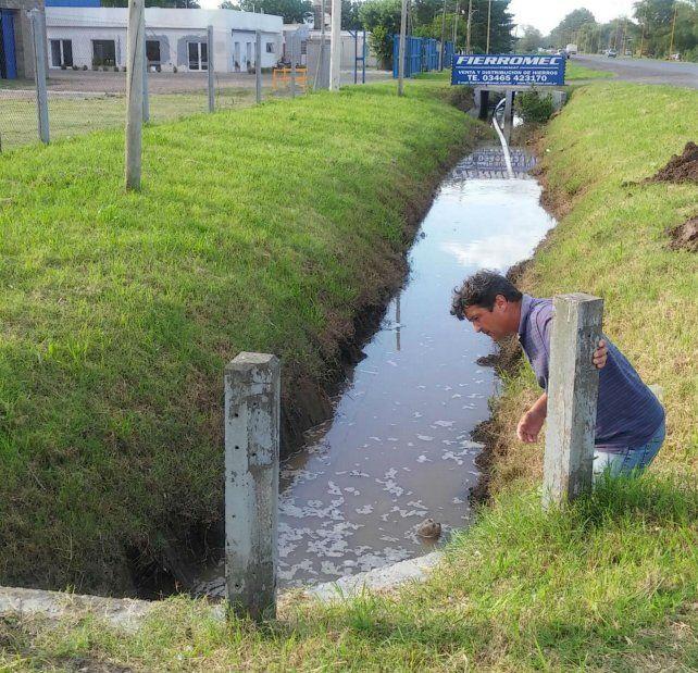 Prevención. Se hicieron canalizaciones en distintas zonas.