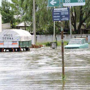 La localidad del Elortondo fue una de las más afectada por la tormenta.