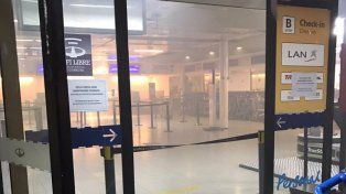 El incendio fue en la Terminal B.