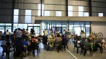 Centro de evacuados en Arroyo Seco.