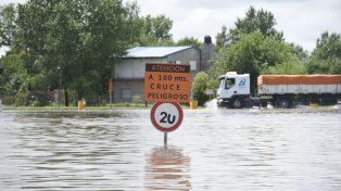 Cerca del cruce de las A012 y 18, uno de los sectores más afectados por las inundaciones.