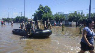 Así está La Emilia, una localidad del partido de San Nicolás, a 70 kilómetros de Rosario.