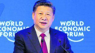 Xi Jinping. El líder chino defendió el libre comercio.