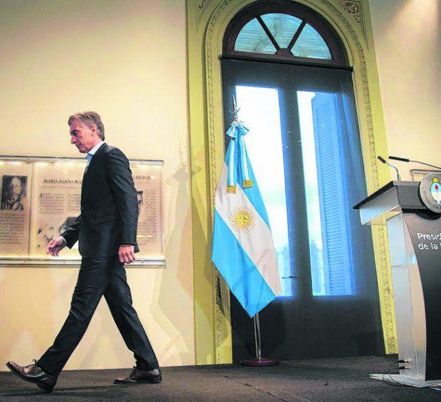 Tiró la primera piedra. Mauricio Macri