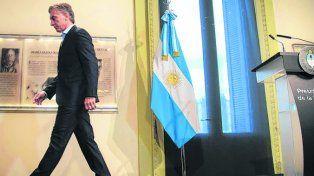 Tiró la primera piedra. Mauricio Macri, luego de la conferencia de prensa de ayer.