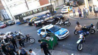 La esquina de Castellanos y San Lorenzo donde se produjo la pelea.
