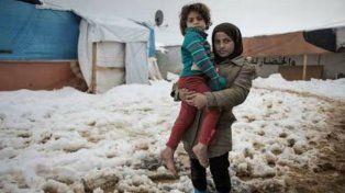 El drama de los refugiados que sufren el crudo invierno de Europa