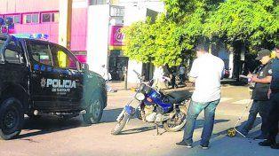 robada. La moto en la que iba el sospechoso tenía pedido de captura.