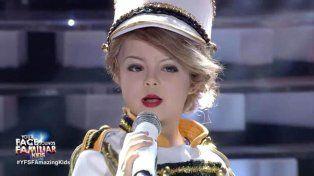 Impactante: la pequeña que es furor en las redes sociales por su imitación de Taylor Swift