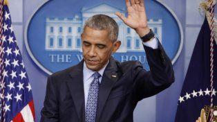 adiós. Visiblemente emocionado, Obama se despidió de los periodistas en la Casa Blanca.