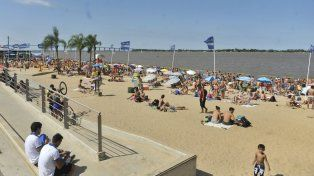 Día ideal para la playa o para pileta. No hay pronóstico de lluvias hasta fin de mes.