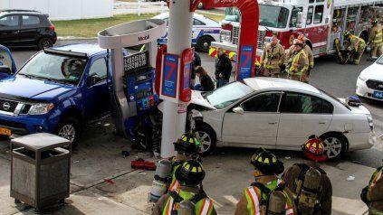 Manejaba drogada y causó una tragedia en una gasolinera