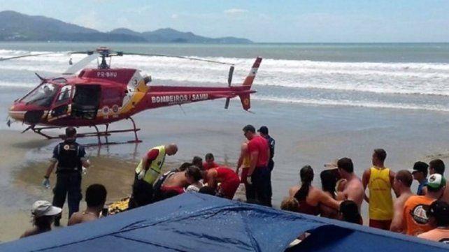 Un turista argentino murió ahogado mientras vacacionaba en en el sur de Brasil