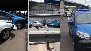 Los delincuentes fueron apresados tras un accidente de tránsito.