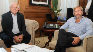 El gobernador Miguel Lifschitz se reunió hoy con el ministro del Interior de la Nación, Rogelio Frigerio.