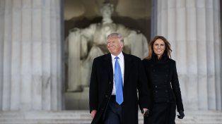 Donald Trump y su esposa Melania a su arribo a Washington.