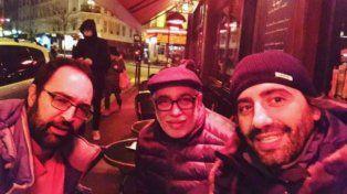 El Negro Oro y sus amigos en París.