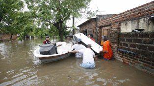 Las inundaciones castigaron con dureza a los habitantes de la provincia de Santa Fe.
