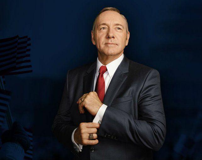 Kevin Spacey es el protagonista de la popular serie de Netflix House of Cards.