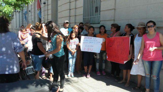 Protesta de mujeres en Vera.
