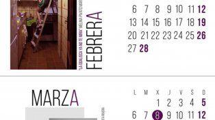 El calendaria presentada causó sensación.