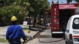 Hace unos días, un escape de gas en la zona de Amenábar y Caferatta obligó a la evacuación de vecinos.
