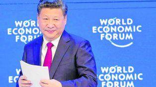 Dado vuelta. El líder chino Xi Jinping encandiló a los hombres de negocios de Davos