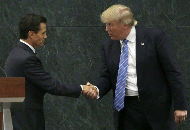 Los separa un muro. Trump visitó a Peña Nieto en agosto para analizar la inmigración mexicana a EEUU.